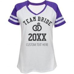 Custom Rhinestone Team Bride