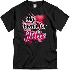 My heart beats for Julie