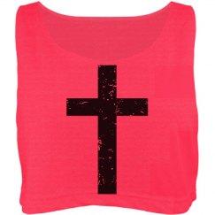 Distressed Cross Top