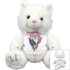 Patriotic American Eagle Kitty