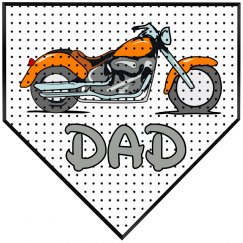 Motorbike Dad Plaque