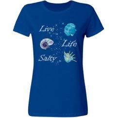 Live Life Salty Shells Woman's