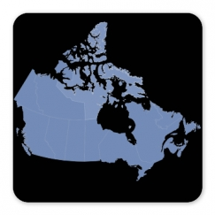 Canada Provinces Square Magnet