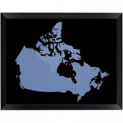 Canada Provinces Wood Plaque