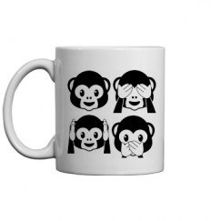 Monkey Emojis Mug