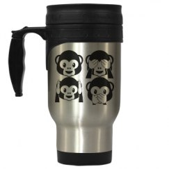 Monkey Emojis Travel Mug