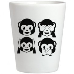 Monkey Emojis Shotglass
