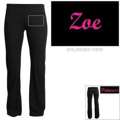 Zoe, yoga pants