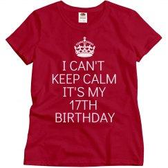 It's my 17th birthday