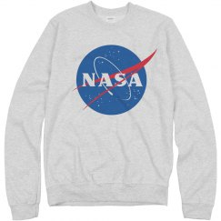 NASA Logo Heather Grey Sweater