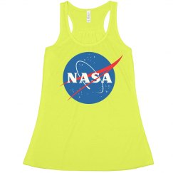 Neon Crop NASA Space Galaxy Tee