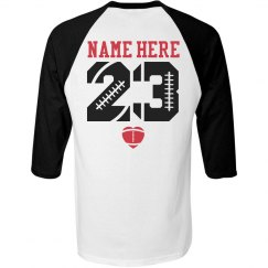 Trendy Football Girlfriend Shirts With Name Number