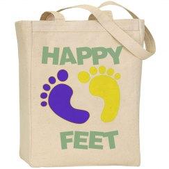 Happy Feet Canvas Tote