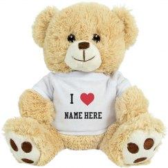 I Heart Customizable Teddy Bear
