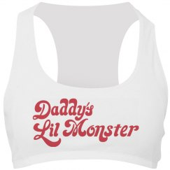 Daddy's Lil Monster Sports Bra