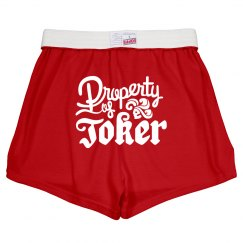 Property Of Joker Costume Shorts