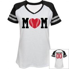 A Son's Trendy Baseball Mom