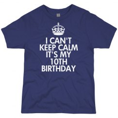 It's my 10th birthday