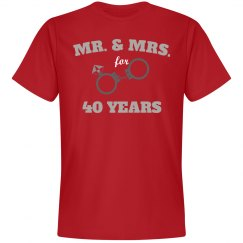 Mr. & Mrs. for 40 years