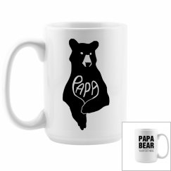 Custom Papa Bear Coffee Mug