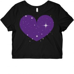 Sparkle Heart Crop Top