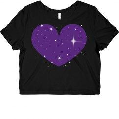 Sparkle Heart Crop Top