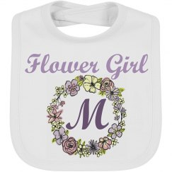Monogram Flower Girl Baby Bib