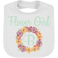 Flower Girl Wedding Baby Bib