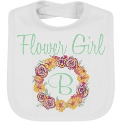 Flower Girl Wedding Baby Bib