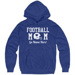 Sparkly Football Mom Rhinestone Text Fleece!
