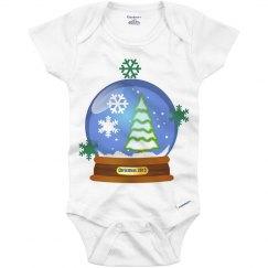 Snow globe onesie