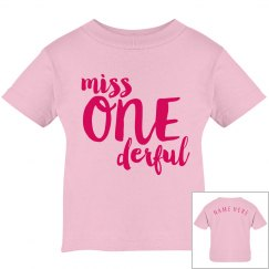Miss One Derful 1st Birthday Custom