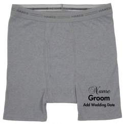 Customized groom shorts