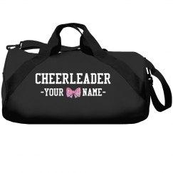 Cute Custom Cheer Bag Glitter Bow