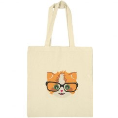 Cat in Library Tote Bag