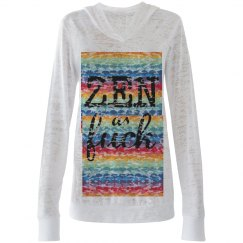 Zen as f*ck slouch tee rainbow tee
