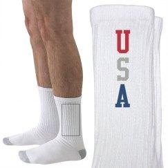 USA All the Way Socks
