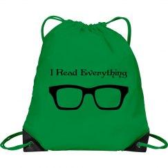 I Read Everything Bag