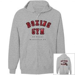 Zip up boxing hoodie