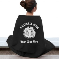 Proud Baseball Mom Sunflower