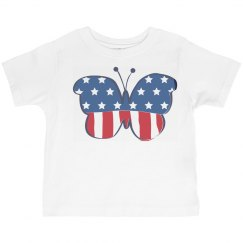 Toddler Fourth of July butterfly