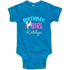 Cute Unicorn Birthday Baby