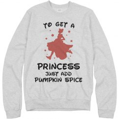 For Princess Add Pumpkin Spice