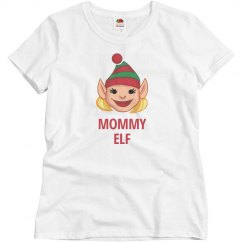 Mommy Elf Christmas Top