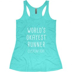 Customizable Honest Runner Racerback