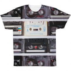 Retro Cassette Tapes Music Print