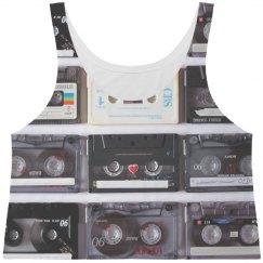 Retro Music Girl Cassette Tapes