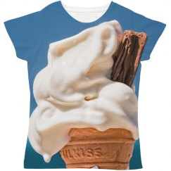 Ice Cream All Over Print Women's Tee