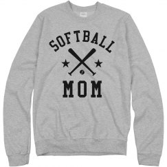 Softball Rhinestone Mom