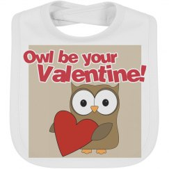 Owl Valentine Bib